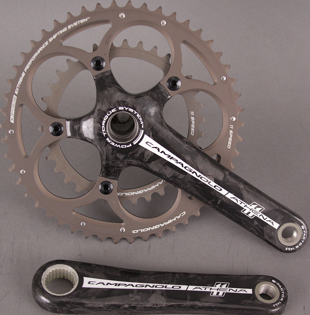 Campagnolo Athena Carbon Crankset 172.5mm 39/53 Power Torque